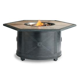 Delfina Hexagon Custom Gas Fire Table