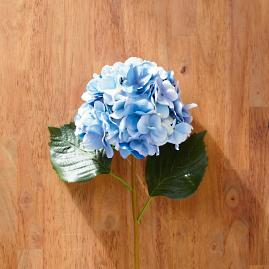 Faux Blue Hydrangea Stems, Set of Six
