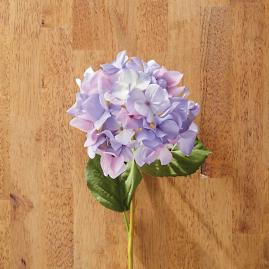 Faux Purple Hydrangea Stems, Set of Six