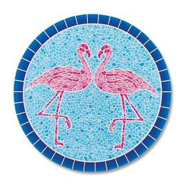 Flamingo Mosaic In-pool Mat