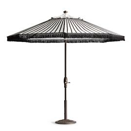 Black Stripe Designer Umbrella