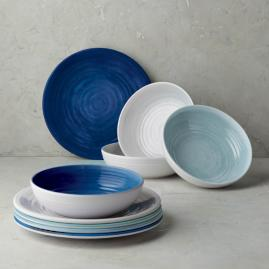 Alfresco Melamine Bowls, Set of Four
