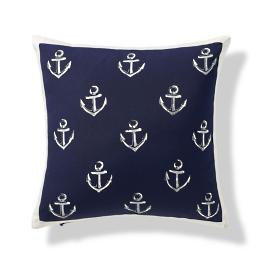 Stamped Admiral Outdoor Pillow