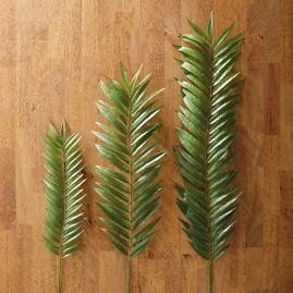 Faux Palm Leaf Stems, Set of 12
