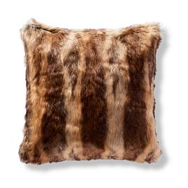 Luxury Faux Fur Pillow Cover in Coyote