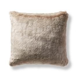 Fashion Faux Fur Matelassé Pillow Cover in Taupe