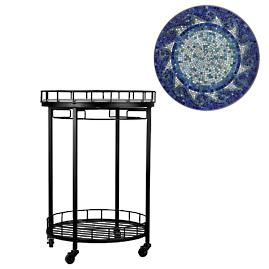 KNF Ocean Waves Round Serving Cart