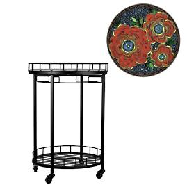 KNF Zinnia Round Serving Cart