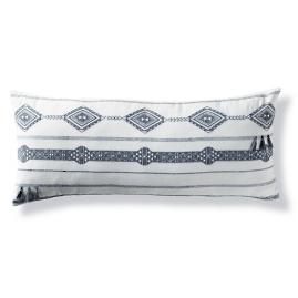 Kiro Melange Tassel Lumbar Decorative Pillow Cover by