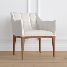 Gramercy Weathered Oak Dining Arm Chair