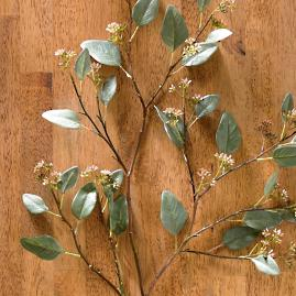 "Green 42"" Eucalyptus Leaf Sprays, Set of Four"