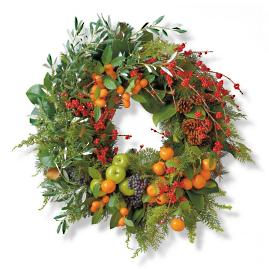 "Berry and Bright Indoor 36"" Wreath"
