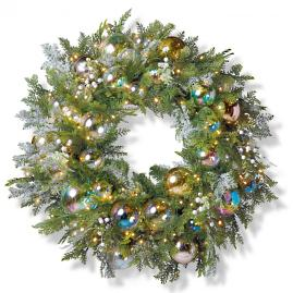 "Bubble Ornament Cordless Outdoor 32"" Wreath"