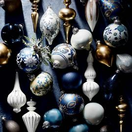 48-piece Indigo Dreams Ornament Collection