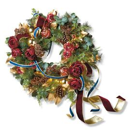 "Roman Christmas Cordless Indoor 34"" Wreath"