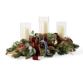 Roman Christmas Indoor Candle Centerpiece