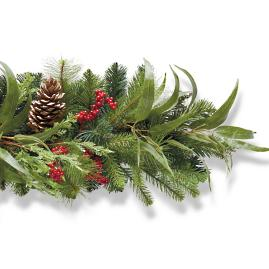 Holiday Highland Outdoor 6 ft. Garland