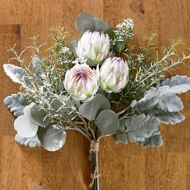 "Protea and Eucalyptus 16"" Bouquets, Set of Four"