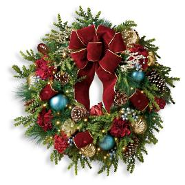 "Roman Splendor Cordless Outdoor 30"" Wreath"