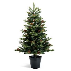 Decorative Potted Cordless 4' Tree