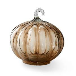 Large Glass Round Pumpkin