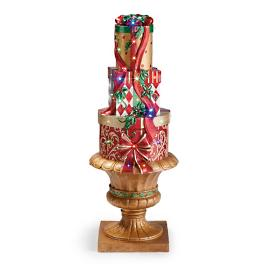 "LED 47"" Lighted Stacking Presents in Gold Urn"
