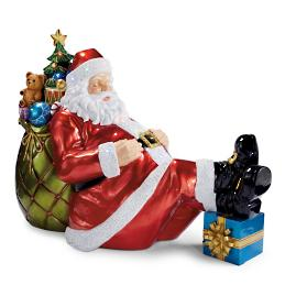 LED Sleeping Santa Lawn Statue