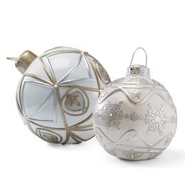 LED Battery-operated Lighted Metallic Ornament