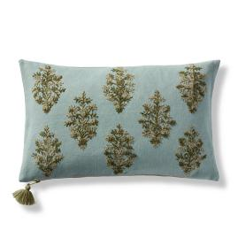 Bodhi Embroidered Lumbar Pillow Cover