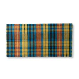 Autumn Plaid Greetings Door Mat
