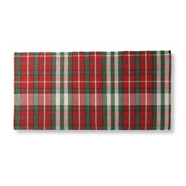 Holiday Plaid Greetings Door Mat