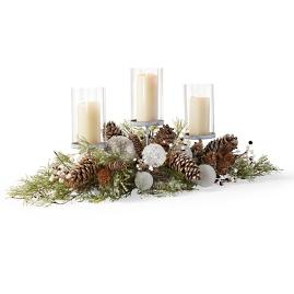 Northern Lights Indoor Three-ring Candleholder