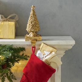 Gold Tree Stocking Holder