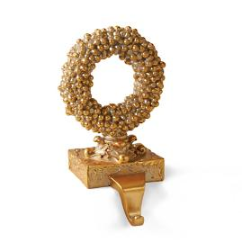Gold Wreath Stocking Holder