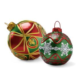 LED Battery-operated Lighted Traditional Ornaments