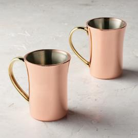 Double Walled Mugs, Set of Two