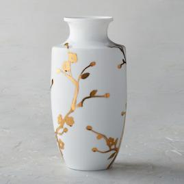 Gilded Blossoms Small Shaped Vase