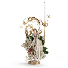 Mark Roberts Acanthus Winged Angel Candleholders