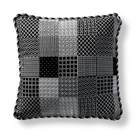 Graphic Patch Corded Indoor/Outdoor Pillow - Onyx