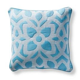Mikaela Square Indoor/Outdoor Pillow in Aruba
