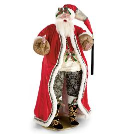 Mark Roberts 5 ft. Coal Stocking Santa