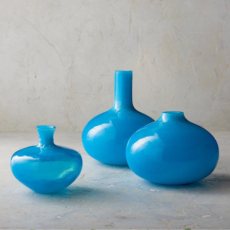Rialta Glass Vases, Set of Three