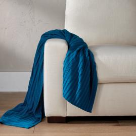 Knit Abstract Stripe Throw