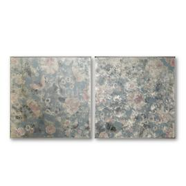 Hana Printed Floral Wall Mirrors, Set of Two