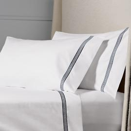 Resort Ladder Stitch Cotton Sateen Pillowcases, Set of