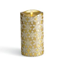 Snowflake Embossed Dream Candle Pillar