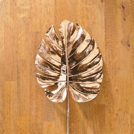 Metallic Split Philo Leaves, Set of Six