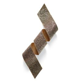 "4"" Satin Rock Glitter Gold Ribbon"
