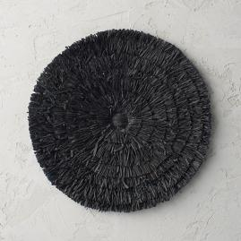 Round Raffia Placemats, Set of Four