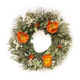 Peach Poppy Wreath